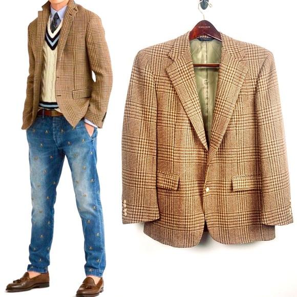 VTG 80's Polo Ralph Lauren Tweed Wool Sport Coat